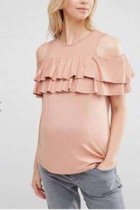 חולצת הריון ורודה אסוס הנחה מבצע זול