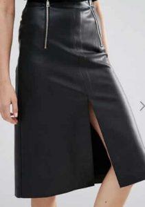 חצאית דמוי עור אסוס הנחה זוזו דיליס