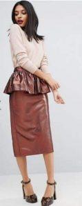 חצאית עיפרון מטאלית אסא
