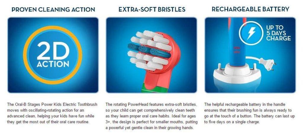 מברשת שיניים חשמלית אוראל בי לילדים