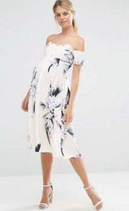שמלה פרחונית הריון אסוס