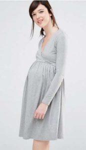 שמלת הריון אפורה אסוס