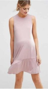 שמלת הריון ורודה ללא שרוולים אסוס מבצע הנחה