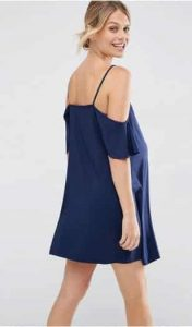 שמלת הריון כחולה אסוס מבצע