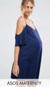 שמלת הריון כחולה אסוס
