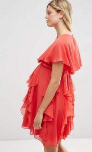 שמלת הריון כתומה ומדהימה אסוס זוזו דיליס