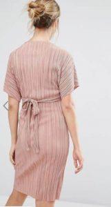 שמלת הריון פליסה ורודה
