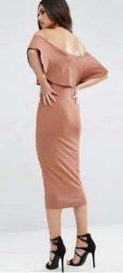 שמלת סטרפלס צבע ניוד ורוד אסוס הנחה זוזו דיליס זול