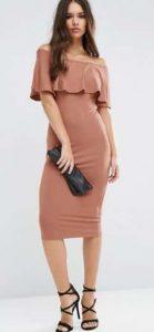 שמלת סטרפלס צבע ניוד ורוד אסוס הנחה זוזו דיליס