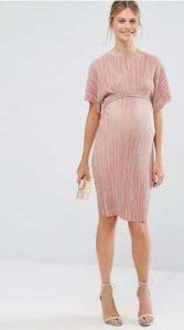 שמלת פליסה ורודה להריון אסוס