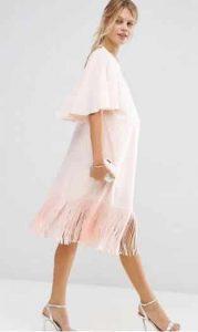 שמלת פרנזים ורודה להריון אסוס