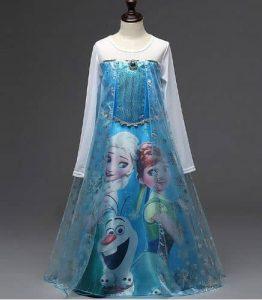 2016 Elsa Anna Long Sleeve Dress זוזו דיליס פורים