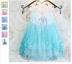 2016 Elsa Anna Long Sleeve Dress זוזו דיליס פורים PURIM