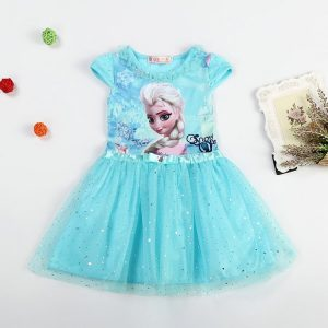 2016 Elsa Anna Long Sleeve Dress זוזו דיליס פורים PURIM ZUZU DEALS BLUE