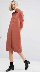 ASOS Casual Midi Shirt Dress אסוס הנחה