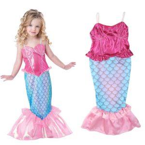 Baby Girls Clothes The Little Mermaid Ariel Kids Girls Dresses Princess Cosplay Halloween Costume
