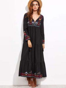 black-embroidery-fringe-detail-dress