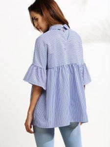 blue-striped-ruffle-sleeve-babydoll-blouse1