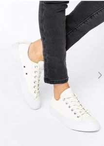 Converse All Star Cream Textured Leather Trainers אסוס הנחה