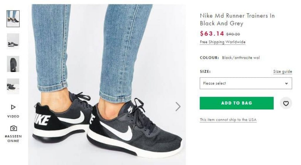 Nike Md Runner Trainers In Black And Grey