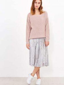 silver-pleated-velvet-skirt
