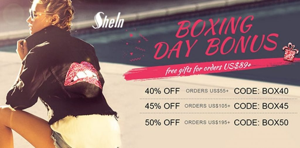 shein BOXING DAY SALE