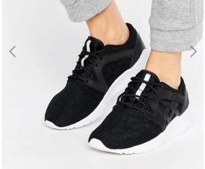 Asics Mesh Gel Lyte Komachi Trainers In Black