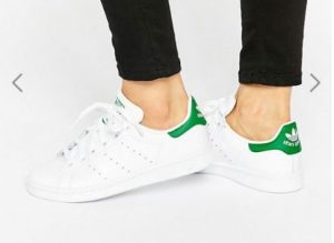 adidas Originals Unisex White And Green Stan Smith Trainers