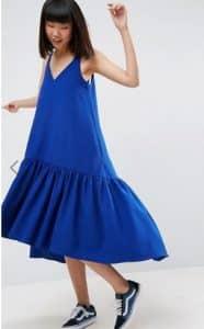 שמלה כחולה ארוכה אסוס