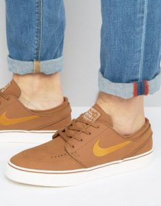 Nike SB Zoom Stefan Janoski Leather Trainers In Brown 616490 271