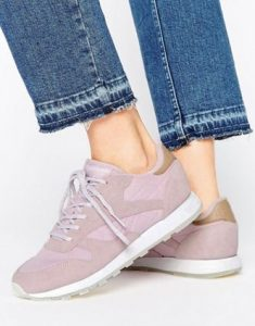 Reebok Classic Leather Seaworn Trainers In Lilac