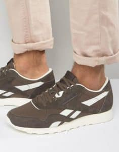 Reebok Classic Nylon Trainers In Brown BD2692
