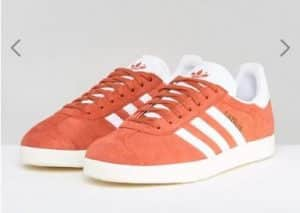 adidas Originals Gazelle Trainers In Orange