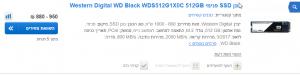 2018 05 23 16 03 24 זאפ השוואת מחירים תוצאות חיפוש wd 512gb ssd