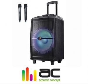 2018 05 30 21 06 59 בידורית קריוקי Bluetooth מבית Acoustic Concept דגם AC H12L עם 2 מיקרופונים אלחוט