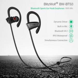 2018 06 24 14 49 46 BlitzWolf® BW BTS3 Sport Adjustable Earhooks Bluetooth Earphone IPX5 Waterproof