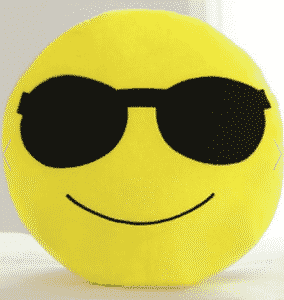 2018 08 02 13 27 43 Black Smile Face Emoticon Pattern Pillowcase RoseGal.com