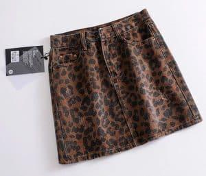 חצאית מיני גינס מנומרת עליאקספרס