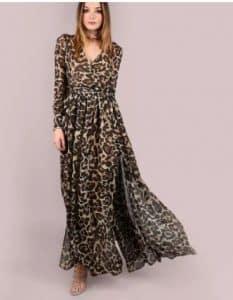 שמלת שיפון מנומרת עליאקספרס זול