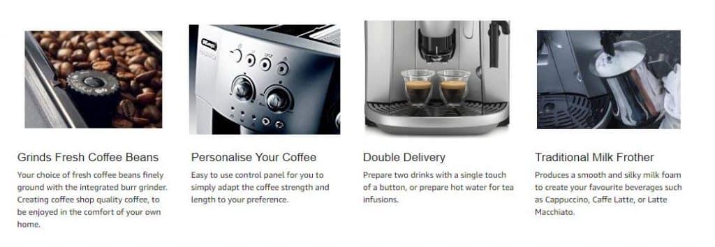 מכונת אספרסו טוחנת פולי קפה זוזו דילס