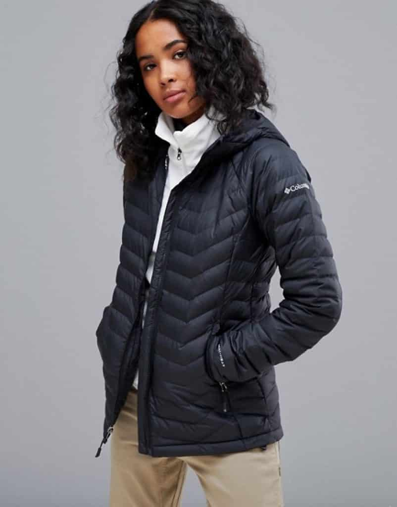 מעיל קולומביה שחור נשים מעולה איכותי יוקרתי מבצע זול זוזו דילס