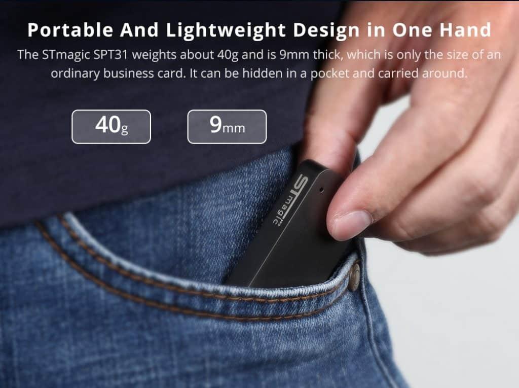 STmagic SPT31 512G Mini Portable M 2 SSD Gray 20190301175913584