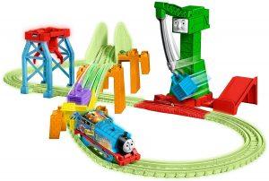 תומס הקטר מסילת רכבת זוהרת בחושך משחק לילדים