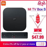 Xiaomi Mi Box S – ה-סטרימר הכי טוב והכי משתלם! תומך סלקום TV, נטפליקס 4K, סטינג TV ועוד רק ב$46.99