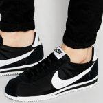 Nike Classic Cortez nylon trainers in black 807472-011