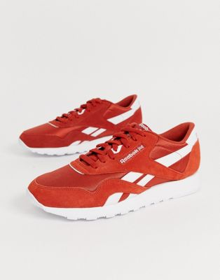 Reebok Classic Nylon trainers in red