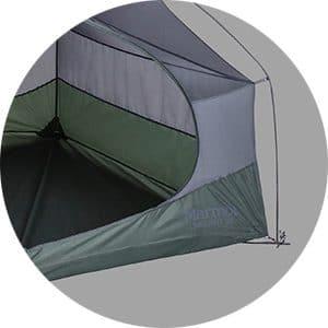 התנגדות למים אוהל