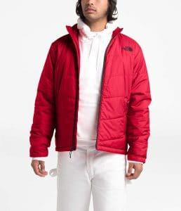מעיל מבודד אדום נורת פייס מבצע לקנות בזול זוזו דילס