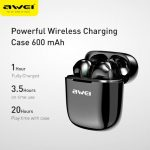 AWEI Newest Bluetooth V5 0 Earbuds TWS Stereo Bass Sound Powerful Bass Sound Touch Control With