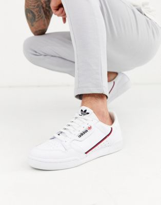 adidas Originals Continental 80's Trainers In White